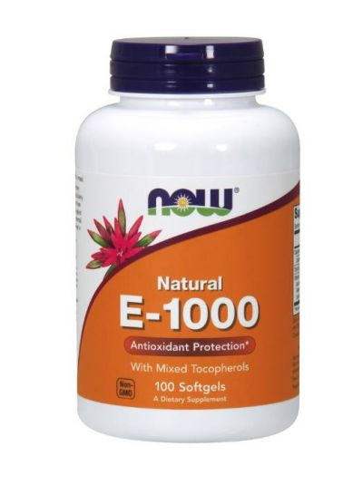 Now Foods Vitamin E-1000 IE gemischte Tocopherole 100 Softgels