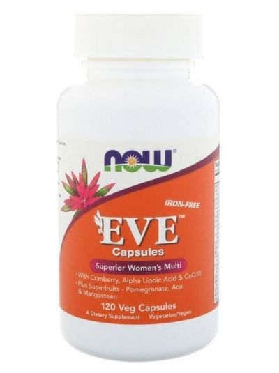 Now Foods Eve Superior Women's Multi (Iron-Free) 120 Veg Capsules