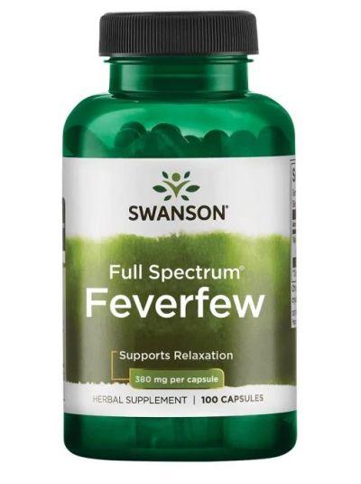 Swanson Premium- Full Spectrum Feverfew 380mg 100 Capsules