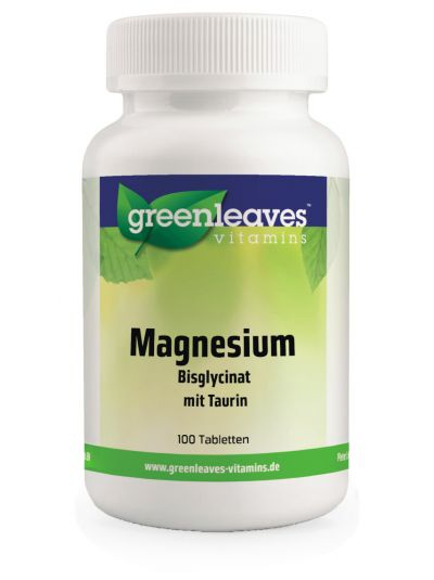 Green Leaves MAGNESIUM BISGLYCINAT 100 MG 100 Tabletten