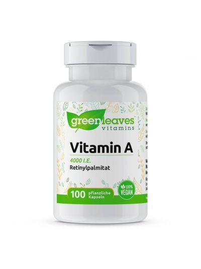 Green Leaves Vitamins VITAMIN A 4000 I.E. 100 Kapseln