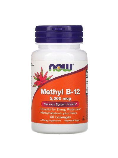 Now Foods, Methyl B12 (5.000 mcg) + Folat (680 mcg), 60 Lutschtabletten