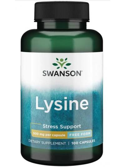 Swanson Premium - L-Lysine - Free Form - 500 mg, 100 Capsules