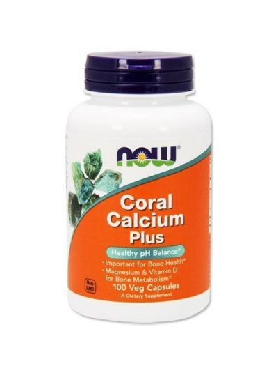 Now Foods Coral Calcium Plus 100 Veg Capsules