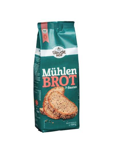 Bauckhof Mühlenbrot 7-Saaten glutenfrei Bio 500g