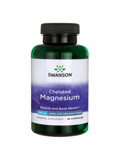 SWANSON Magnesium Chelated / Elemental 133Mg 90 KAPS
