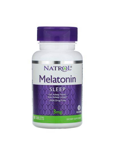 Natrol, Melatonin, 3 mg, 60 Tablets