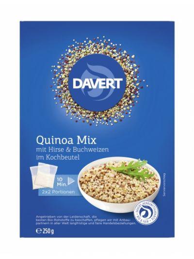 Davert Quinoa Mix mit Hirse und Buchweizen im Kochbeutel 250g