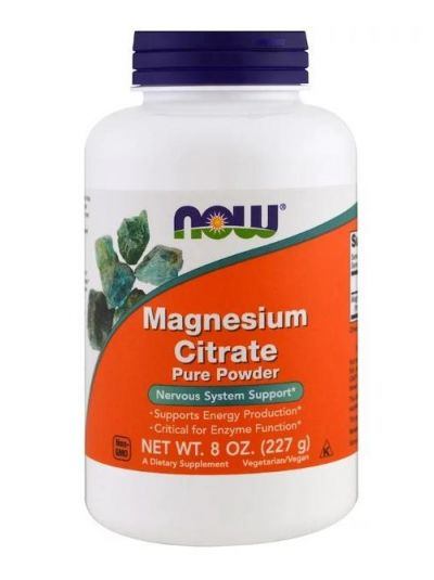 Now Foods Magnesium Citrate Pure Powder 227 g
