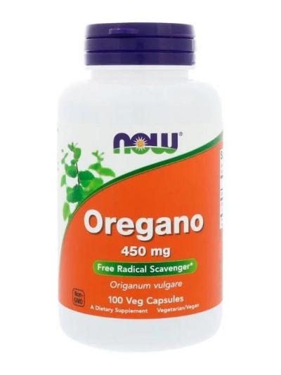 Now Foods Oregano 450 mg 100 vegetarische Kapseln