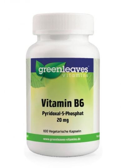 Green Leaves VITAMIN B6 PYRIDOXAL-5-PHOSPHAT, 20 MG 100 Kapseln