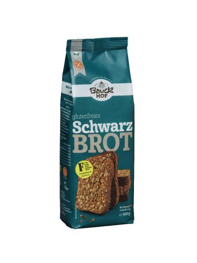 Bauckhof Bio Brotbackmischung Glutenfrei Schwarzbrot 500g