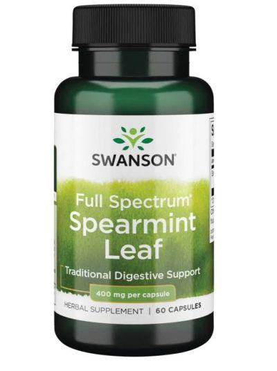 Swanson Premium- Full Spectrum Spearmint Leaf 400mg 60 capsules