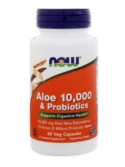Now Foods Aloe Vera 10.000 & Probiotika 60 Veg Kapseln