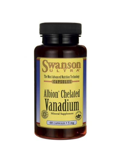 Swanson Albion Chelated Vanadium 5mg 60 Kapseln