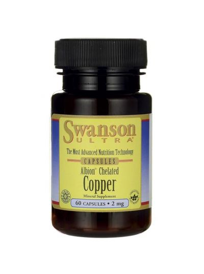 Swanson Copper Chelated / Elemental 2 mg 90 Capsules