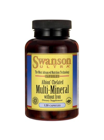 Swanson Albion Chelated Multi-Mineral without Iron 120 caps
