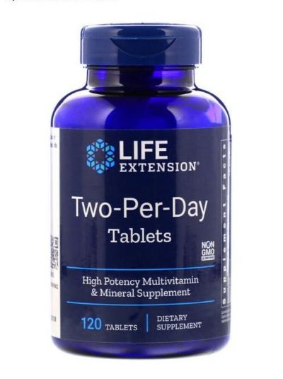 Life Extension Life Extension Two-per-Day 120 Tabletten