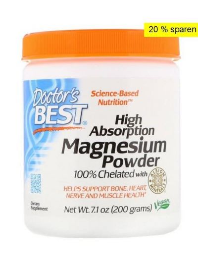 Doctor's Best Hohe Absorption Magnesium-Pulver mit TRAACS 200 g