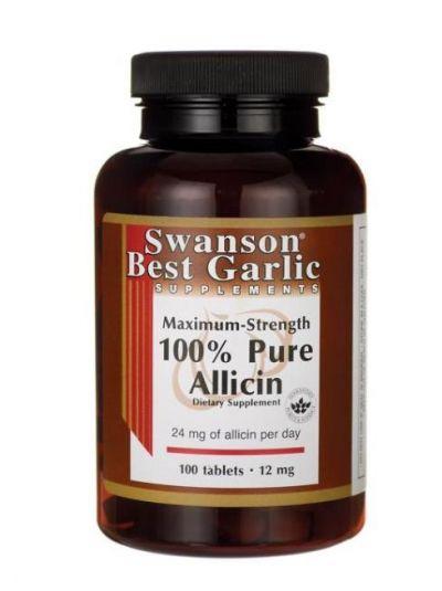 Swanson Knoblauch mit 100% reines Allicin mit maximaler Stärke 12 mg 100 Tabletten