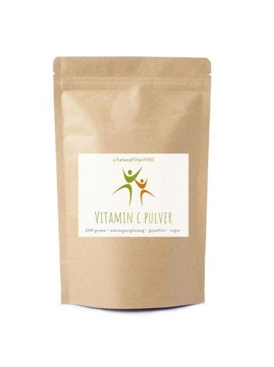 Vitalundfitmit100 Vitamin C gepuffert (Calciumascorbat) 200 g