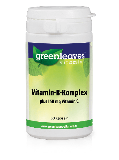 Green Leaves Vitamins Vitamin B-Komplex + 150 mg Vitamin C 50 Kapseln