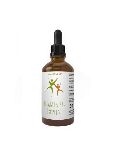 Vitalundfitmit100 Aktives Vitamin B12 flüssig 30 ml mit Pipette