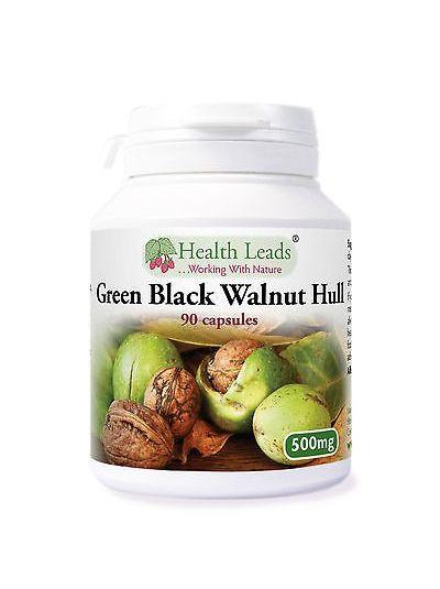 Green Black Walnut Hull 500mg x 90 vegetarian capsules