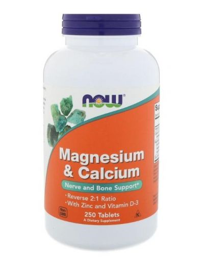 Now Foods Magnesium & Kalzium 2:1 Reverse Ratio 250 Tabletten