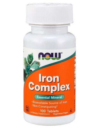 Now Foods Eisen Komplex 27 mg Vegetabilische 100 Tabletten