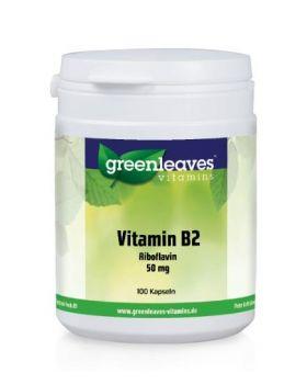 Green Leaves Vitamins Vitamin B2 (Riboflavin) 50 mg 100 Kapseln