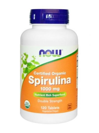 NOW FOODS ZERTIFIZIERTES BIO-SPIRULINA 1000 MG 120 TABLETTEN
