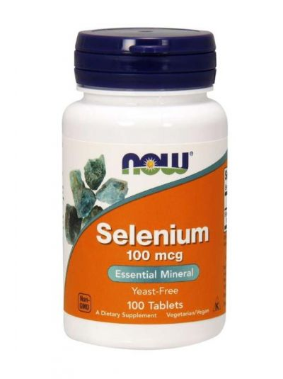 NOW FOODS SELENIUM WITHOUT YEAST 100 MCG 100 TABLETS