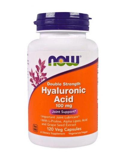 Now Foods Hyalurosäure doppelte Stärke 100 mg 120 vegetarische Kapseln