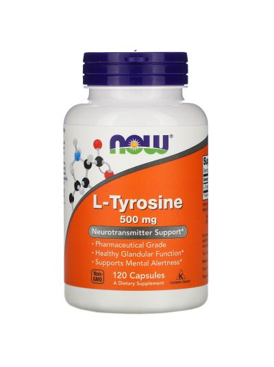 Now Foods, L-Tyrosin, 500 mg, 120 capsules