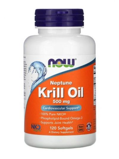 NOW FOODS, NEPTUNE KRILLÖL, 500 MG, 120 Softgels