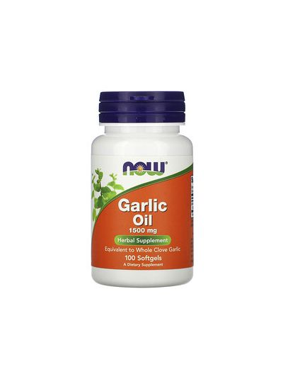 Now Foods Garlic Oil 1,500 mg 100 Softgels
