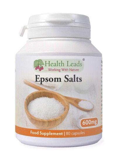 HEALTH LEADS EPSOM SALT (BITTER SALT) 600 mg 80 Capsule