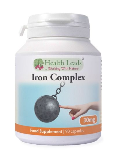 HEALTH LEADS ELEMENTAL IRON COMPLEX 30MG 90 CAPSULES