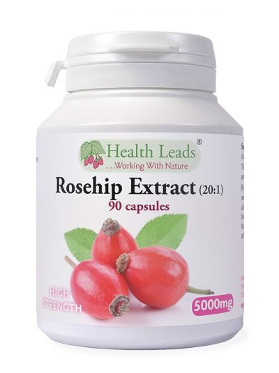 Health Leads Rose Hip Extract 20:1 5000mg x 90 capsules