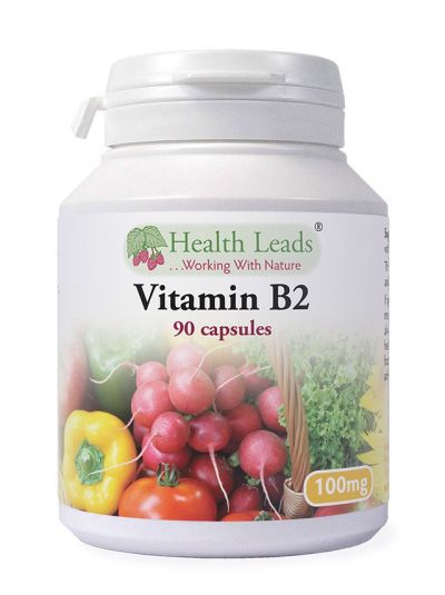 Health Leads Vitamin B2 (Riboflavin) 100mg x 90 capsules