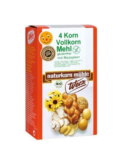 Werz Naturkornmühle 4-Korn-Vollkorn-Mehl glutenfrei 1000g
