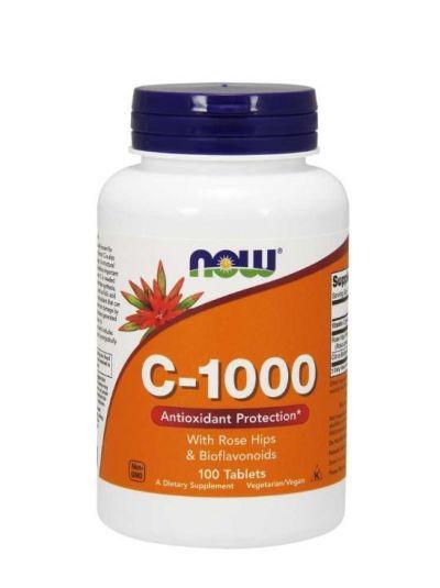 Now Foods C-1000 mit Hagebutten und Bioflavonoiden 100 Tabletten