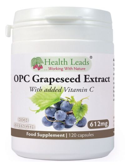 Health Leads OPC Grapeseed Extrakt 600mg + Vitamin C x 120 Capsules