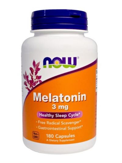 NOW FOODS MELATONIN 3 MG 180 KAPSELN
