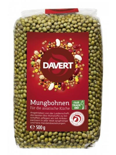 Davert Mungbohnen Fair Trade IBD 500g