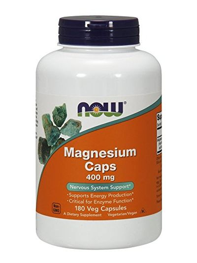 Now Foods Magnesium Caps 400 mg 180 Veggie Caps