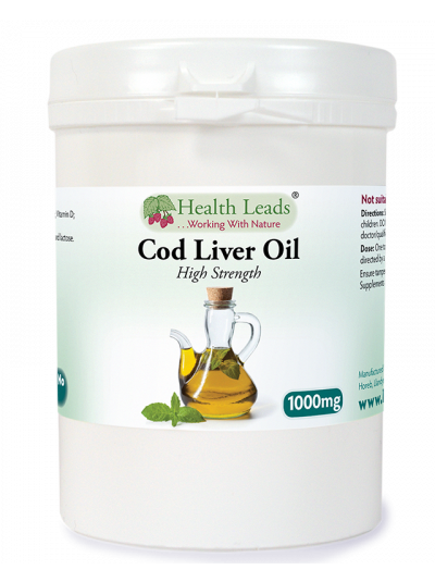 Health Leads Cod Liver Oil 1000mg x 120 capsules (High Strength)