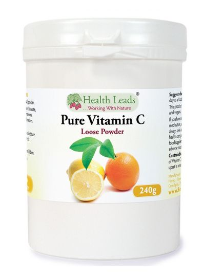 Health Leads Vitamin C Ascorbic Acid Powder 240g