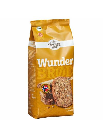 Bauckhof Bio Brotbackmischung Wunderbröd GOLD 600g